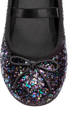 Glittery ballet pumps - Black - Kids | H&M CN 3