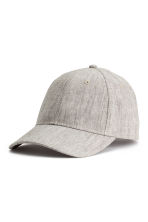 Cap in a linen blend - Grey beige - Ladies | H&M CN 1