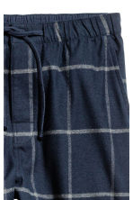 Cotton flannel pyjama bottoms - Dark blue/Checked - Men | H&M CN 3