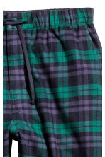Cotton flannel pyjama bottoms - Dark green/Checked - Men | H&M CN 3