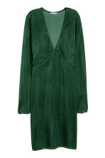 Fitted dress - Dark green - Ladies | H&M CN 2