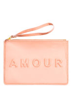 Patent pouch purse - Powder - Ladies | H&M CN 1