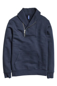 Sweatshirt with a zip