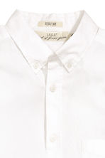 Cotton shirt - White - Men | H&M CN 3