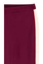 Wide trousers with side stripe - Burgundy/Powder -  | H&M GB 4