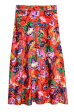 Calf-length skirt - Red/Floral - Ladies | H&M CN 2