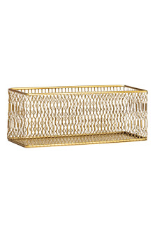 Metal storage basket