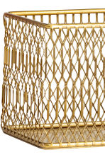 Metal storage basket - Gold - Home All | H&M IE 2