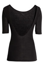 Top in jersey - Nero - DONNA | H&M IT 3
