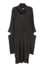 Rib-knit polo-neck jumper - Black - Ladies | H&M CN 2