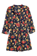 Playsuit - Donkerblauw/rozen - DAMES | H&M BE 2