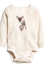 2-pack long-sleeved bodysuits - Mint green/Spotted - Kids | H&M CN 3