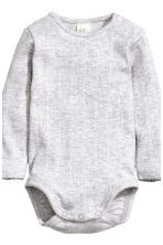 2-pack long-sleeved bodysuits - Natural white/Stars - Kids | H&M CN 3
