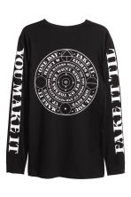 Long-sleeved T-shirt - Black - Men | H&M CN 3