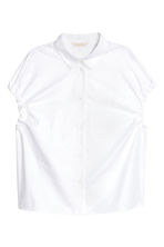 Cotton blouse - White - Ladies | H&M CN 2