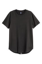T-shirt with a zip - Black - Men | H&M CN 2