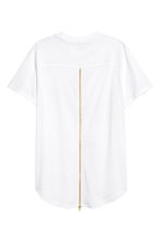 T-shirt with a zip - White - Men | H&M CN 3