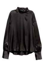 Wide blouse - Black - Ladies | H&M CN 2