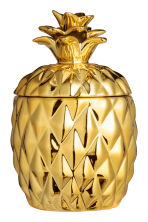 Candela in vasetto di ceramica - Dorato/ananas - HOME | H&M IT 3