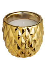 Candela in vasetto di ceramica - Dorato/ananas - HOME | H&M IT 4