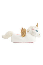 Soft slippers - White/Unicorn - Kids | H&M CN 1