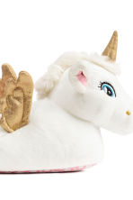 Soft slippers - White/Unicorn - Kids | H&M CN 4