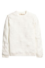 Ribbed jumper - White - Men | H&M CN 2