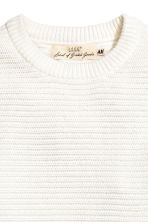 Ribbed jumper - White - Men | H&M CN 3
