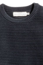 Ribbed jumper - Dark blue - Men | H&M CN 3