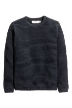 Ribbed jumper - Dark blue - Men | H&M CN 2