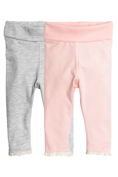 2-pack jersey leggings - Light pink - Kids | H&M CN 1