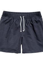 Pyjamas with top and shorts - Dark blue/Striped - Men | H&M CN 3
