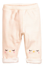 Patterned trousers - Powder pink/Striped - Kids | H&M CA 1