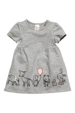 Jersey dress - Grey - Kids | H&M CN 1
