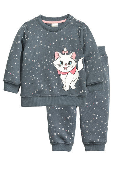 Sweatshirt and trousers - Dark grey/Aristocats - Kids | H&M CN 1