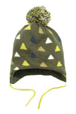 Hat and mittens - Khaki green - Kids | H&M CN 3