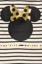 Printed long-sleeved top - Light beige/Minnie Mouse - Kids | H&M CN 2