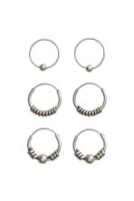 3-pack hoop earrings - Silver - Ladies | H&M GB 1