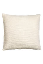 Textured cushion cover - White - Home All | H&M CN 1