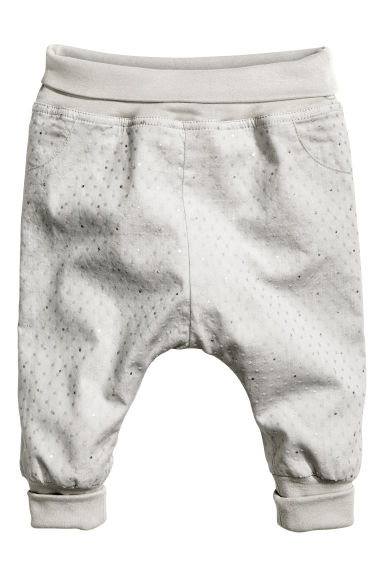 Pull-on trousers - Light grey - Kids | H&M CN