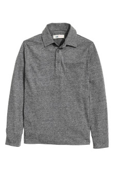 Long-sleeved polo shirt