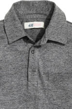 Long-sleeved polo shirt - Dark grey marl - Kids | H&M CN 3