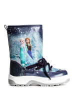 Warm-lined boots - Dark blue/Frozen - Kids | H&M CN 1