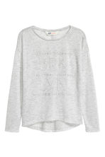 印花汗布上衣 - Light grey marl - 儿童 | H&M CN 2