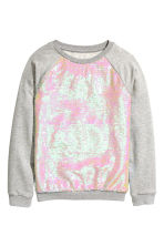 Sequined sweatshirt - Grey - Kids | H&M CN 2