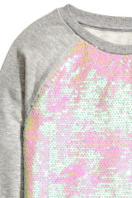 Sequined sweatshirt - Grey - Kids | H&M CN 3