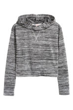 Glittery hooded jumper - Dark grey marl - Kids | H&M CN 2