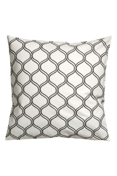 Patterned cushion cover - White - Home All | H&M CN 1