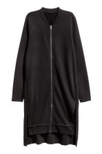 Long sweatshirt cardigan - Black - Ladies | H&M CN 2