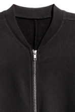 Long sweatshirt cardigan - Black - Ladies | H&M CN 3